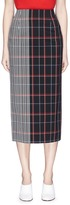 Victoria Beckham Stripe check plaid pencil skirt