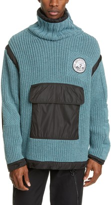 Off-White Duality Patch Pocket Turtleneck Sweater