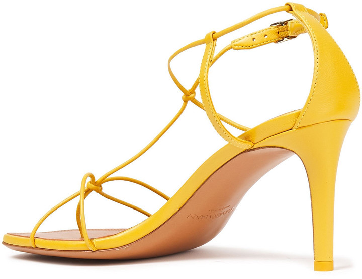 Thumbnail for your product : Zimmermann Knotted Leather Sandals