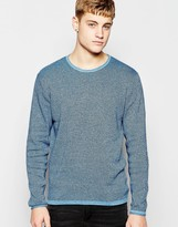 Jack & Jones Knitted Jumper In Mixed Yarns