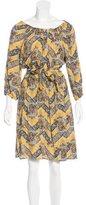 Sea Printed Knee-Length Dress