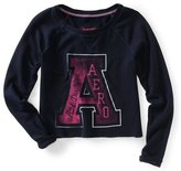 Aeropostale Womens Athletic Cropped Knit Sweater M