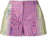 Mary Katrantzou Zeta optic moire print shorts