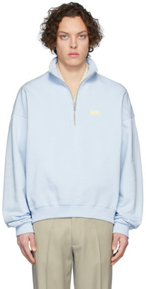Martin Asbjorn Blue Andrew Zip-Up Sweater