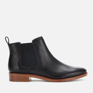 Clarks Women's Taylor Shine Leather Chelsea Boots - Black