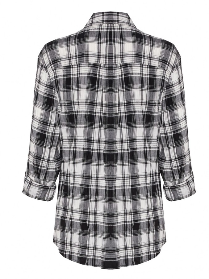 Alice + Olivia Piper Button Down With Leather