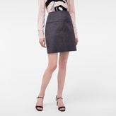 Paul Smith Women's Mottled Grey Faux-Fur Skirt