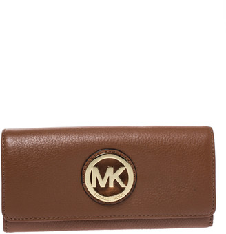 MICHAEL Michael Kors Michael Kors Brown Leather Fulton Flap Continental Wallet