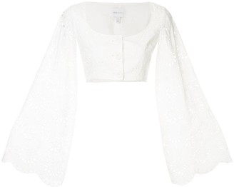 Alice McCall Cloud Obscurity cropped blouse