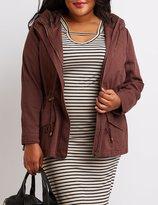 Charlotte Russe Plus Size Hooded Drawstring Anorak Jacket