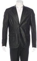Calvin Klein Collection Textured Leather Blazer