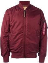 Alpha Industries zipped arm bomber jacket