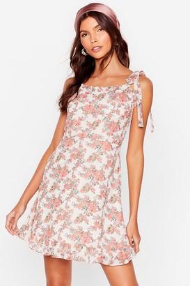 Nasty Gal Womens Bud Times Floral Mini Dress - White