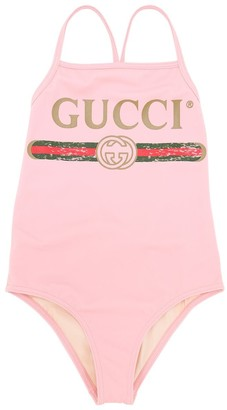 Gucci Logo Printed Lycra One Piece Swimsuit