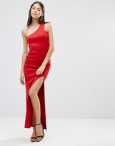 AX Paris Asymmetric Maxi Dress With Side Split
