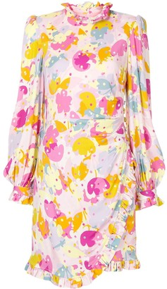 Rebecca Vallance Garda long-sleeve mini dress