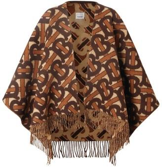 Burberry Wool-Cashmere Tb Monogram Cape