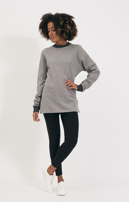 Shio Grey Marl Long Pullover - S/M | cotton | GREY MARL