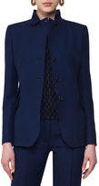 Akris Punto Notch-Collar Wool Blazer, Navy
