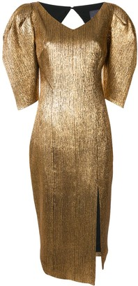 Ginger & Smart Metallic Asymmetric Hem Dress