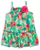 Sweet Heart Rose Sweetheart Rose Baby Girls Tropical Floral Dress