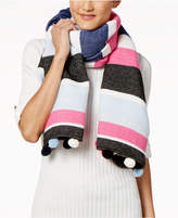 INC International Concepts Striped Pom Pom Wrap & Scarf in One, Created for Macy's