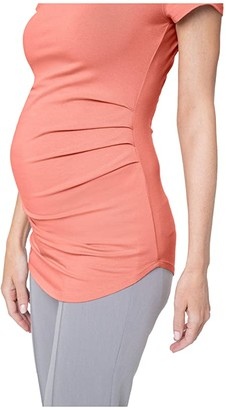 Stowaway Collection Maternity Maternity Ballet Tunic (Coral) Women's Clothing