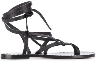 Isabel Marant Wrap-Around Flat Sandals