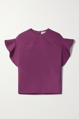 Victoria, Victoria Beckham - Stretch-crepe Top - Purple