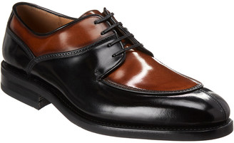 Salvatore Ferragamo Two Tone Derby Leather Oxford