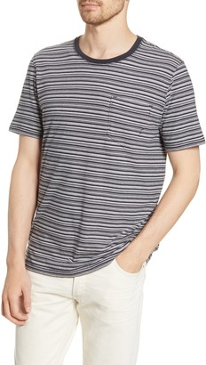 Billy Reid Stripe Pocket T-Shirt