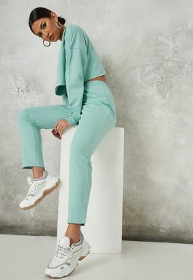 Missguided Green Slim Joggers