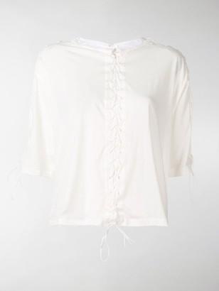 Unravel Project lace up T-shirt
