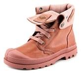 Palladium Baggy Lea Zipper Ii Youth Round Toe Canvas Red Boot.