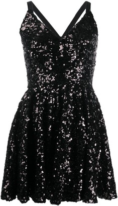 Dolce & Gabbana V-neck sequinned mini dress
