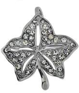Jodie Rose Leaf Shape Clear Crystal Base Metal Pendant Brooch