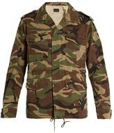 Saint Laurent Love-appliqué Camouflage-print Military Jacket