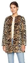 T Tahari Women's Leopard Print Jenna Coat