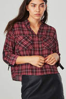 BB Dakota Plaid Crop Top