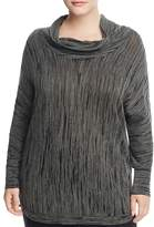 NIC and ZOE Plus Cowl Neck Burnout Sweater