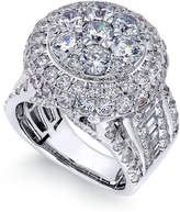 Macy's Diamond Cluster Engagement Ring (5 ct. t.w.) in 14k White Gold