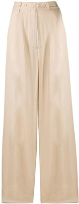Maison Flaneur High-Rise Flared Trousers