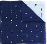 Kenzo Eyes scarf - men - Silk/Modal - One Size