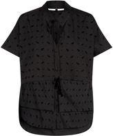 Palmer Harding Palmer/Harding Birds-Flocked Removable Collar Shirt