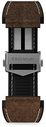 Tag Heuer Connected Brown Leather & Rubber Watch Band