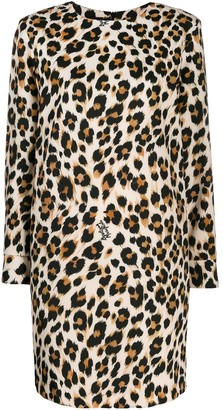 Boutique Moschino Leopard Print Mini Dress