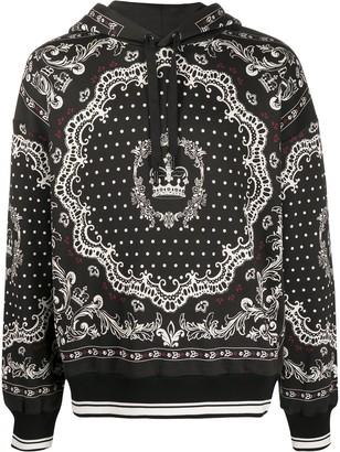 Dolce & Gabbana Bandana Print Hoodie