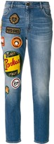 Mr & Mrs Italy patches straight jeans