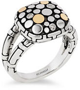 Effy Diamond and 18K Gold-Plated Sterling Silver Ring