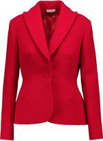 DELPOZO Textured wool-blend blazer